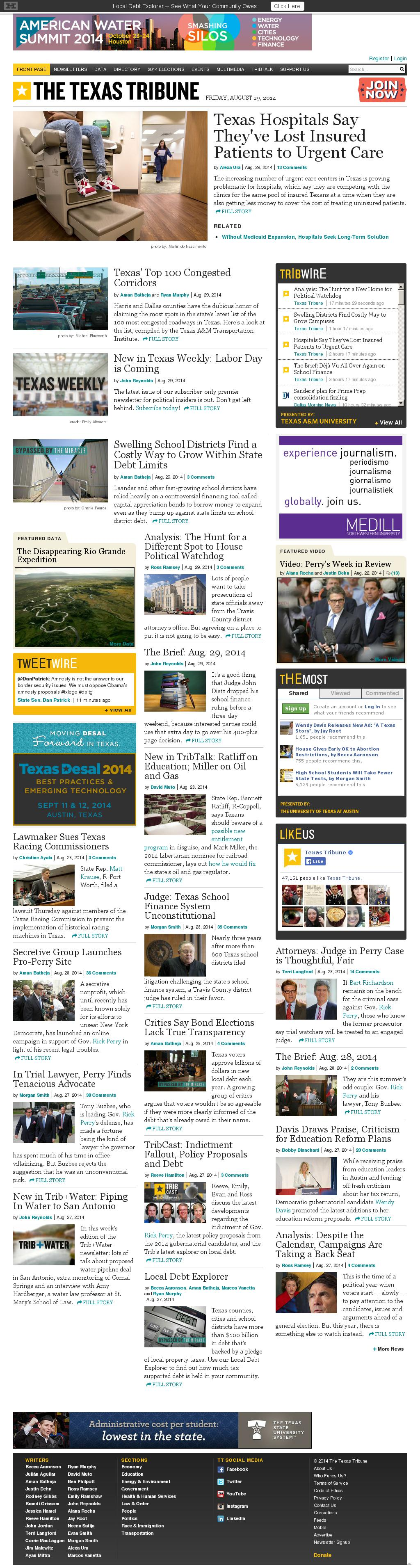 The Texas Tribune at Friday Aug. 29, 2014, 3:17 p.m. UTC