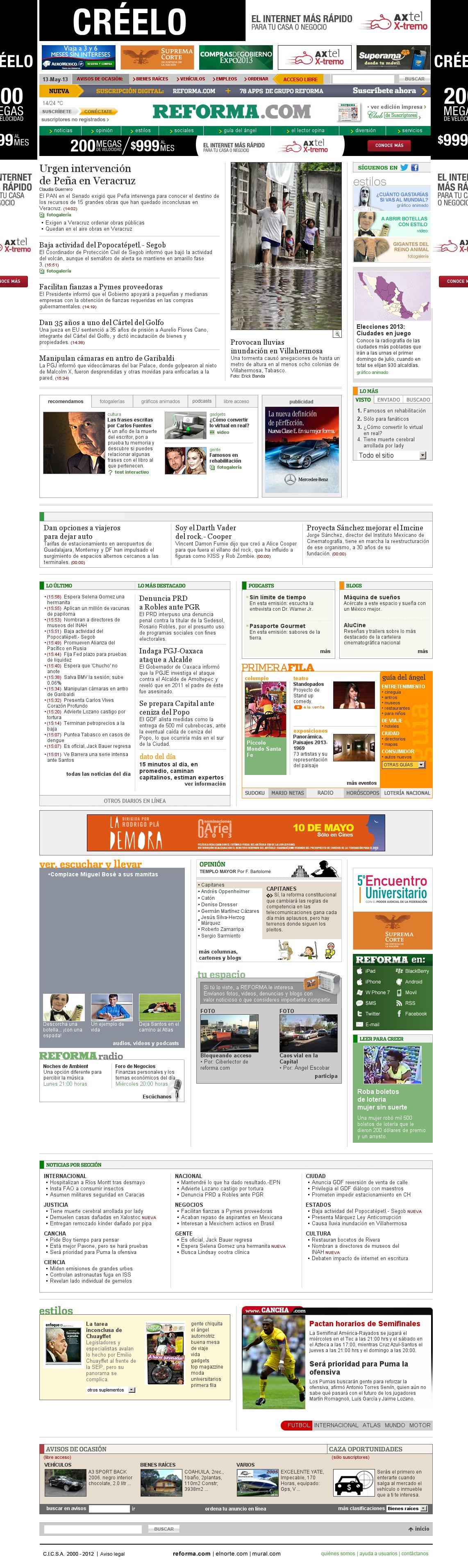 Reforma.com at Monday May 13, 2013, 9:19 p.m. UTC